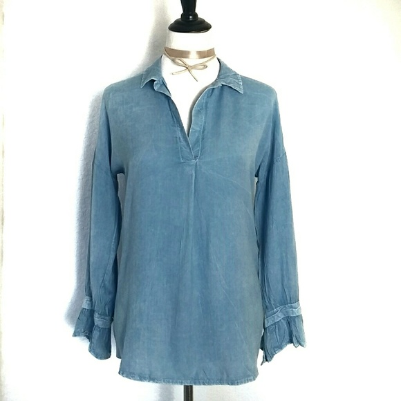 b687c57e01fc1 🌼Women s Denim Style Long Sleeve Top